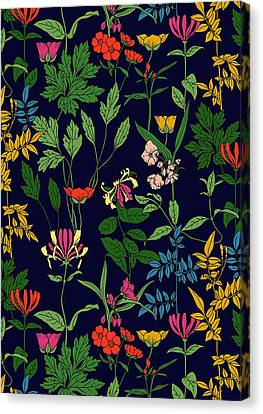 Repeat Canvas Print - Honeysuckle Floral by Sholto Drumlanrig