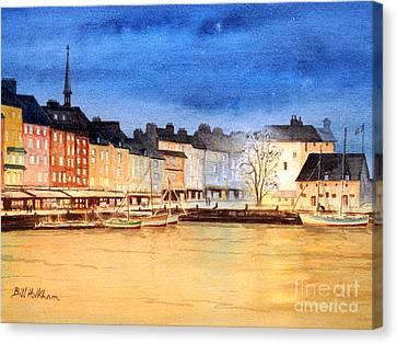 Honfleur  Evening Lights Canvas Print
