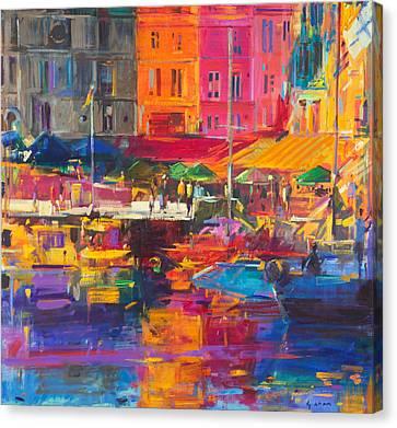 Honfleur Harbour Canvas Print