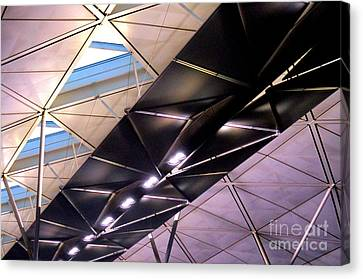 Canvas Print featuring the photograph Hong Kong Airport by Randall Weidner