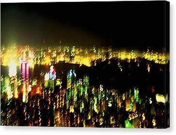 Hong Kong Harbor Abstract Canvas Print by Brad Rickerby