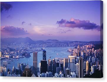 Hong Kong Harbor Canvas Print by Gloria & Richard Maschmeyer - Printscapes