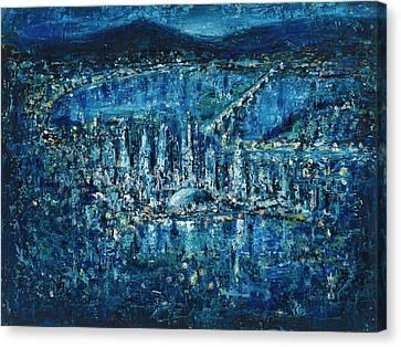Hong Kong Harbor Canvas Print