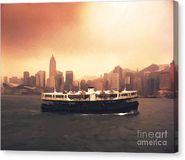 Hong Kong Canvas Print - Hong Kong Harbour 01 by Pixel  Chimp