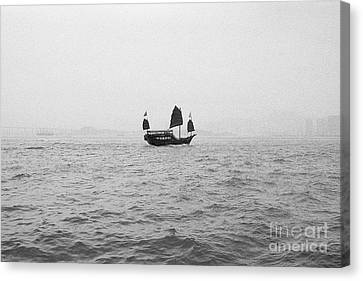 Canvas Print featuring the photograph Hong Kong Junk by Dean Harte