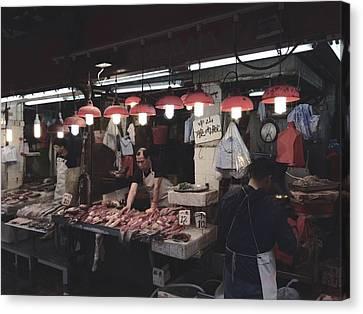 Redlight Canvas Print - Hong Kong Market by Bruno TheBear