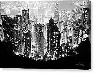 Hong Kong Nightscape Canvas Print by Joseph Westrupp