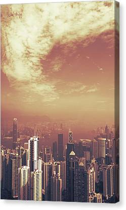 Hong Kong Portrait Canvas Print by Joseph Westrupp