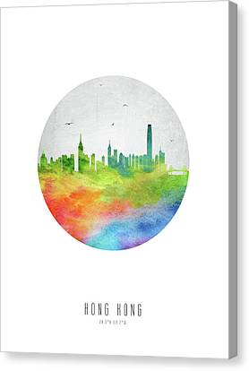 Hong Kong Skyline Chhk20 Canvas Print by Aged Pixel