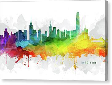 Hong Kong Skyline Mmr-chhk05 Canvas Print by Aged Pixel