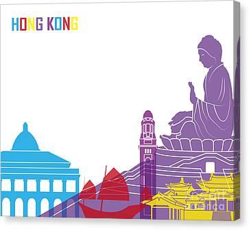 Hong Kong Canvas Print - Hong Kong Skyline Pop by Pablo Romero