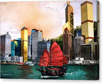 Hong Kong Canvas Print by V  Reyes