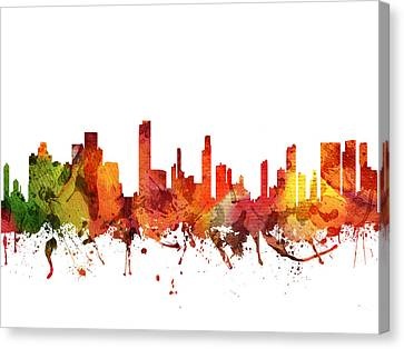 Honolulu Cityscape 04 Canvas Print by Aged Pixel