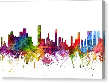 Honolulu Cityscape 06 Canvas Print by Aged Pixel