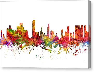 Honolulu Cityscape 08 Canvas Print by Aged Pixel