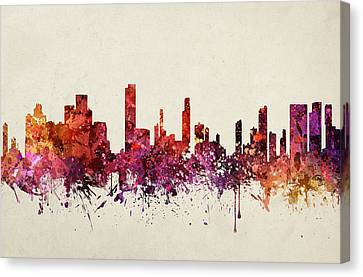 Honolulu Cityscape 09 Canvas Print by Aged Pixel
