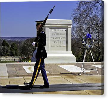 Honor Guard Canvas Print by Rebecca Snyder