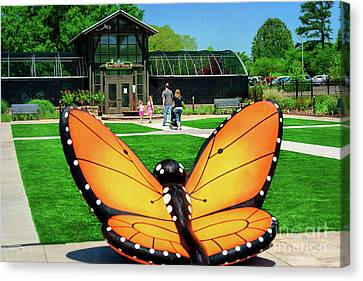 Canvas Print - Honor Heights Butterfly House by Tamyra Ayles