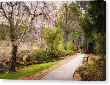 Canvas Print featuring the photograph Honor Heights Pathway by James Barber