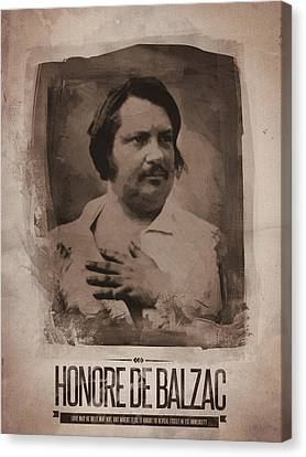 Honore De Balzac Canvas Print by Afterdarkness