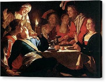 Prodigal Canvas Print - Honthorst Gerrit Van The Prodigal Son  by Gerrit van Honthorst