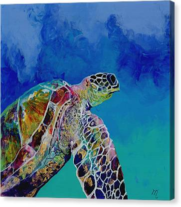 Under The Sea Canvas Print - Honu 7 by Marionette Taboniar