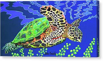 Honu Canvas Print by Debbie Chamberlin