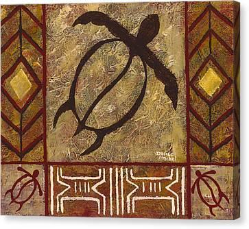Honu Patchwork Canvas Print by Darice Machel McGuire
