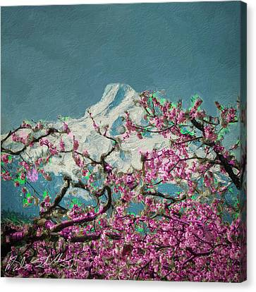 Canvas Print featuring the digital art Hood Blossoms by Dale Stillman
