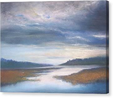 Hood Canal - High Tide Canvas Print by Jackie Bush-Turner