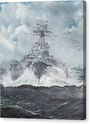 Warship Canvas Print - Hood Heads For Bismarck by Vincent Alexander Booth