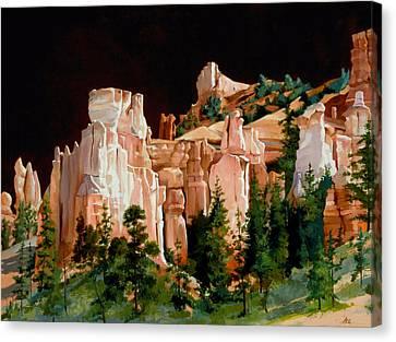 Hoodoos Canvas Print by Lester Nielsen