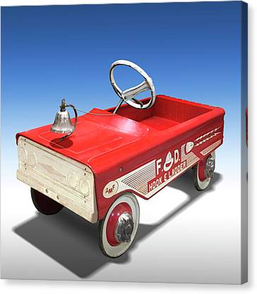 Hook And Ladder Peddle Car Canvas Print by Mike McGlothlen