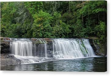 Canvas Print featuring the photograph Hooker Falls by Steven Richardson