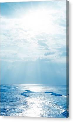 Hookipa Beach Blue Sensation Canvas Print by Sharon Mau
