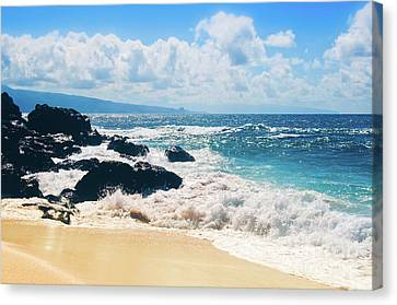 Canvas Print featuring the photograph Hookipa Beach Maui Hawaii by Sharon Mau