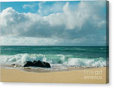 Canvas Print featuring the photograph Hookipa Beach Pacific Ocean Waves Maui Hawaii by Sharon Mau