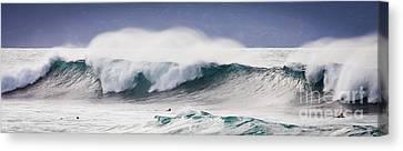 Hookipa Maui Big Wave Canvas Print by Denis Dore