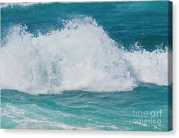 Canvas Print featuring the photograph Hookipa Splash Waves Beach Break Shore Break Pacific Ocean Maui  by Sharon Mau