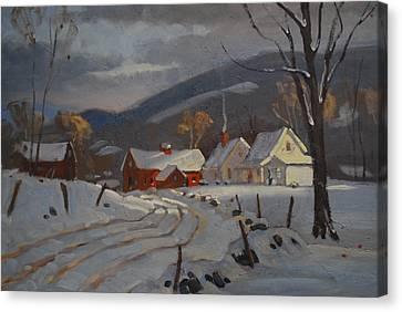 Hoosac Valley Farm Canvas Print by Len Stomski