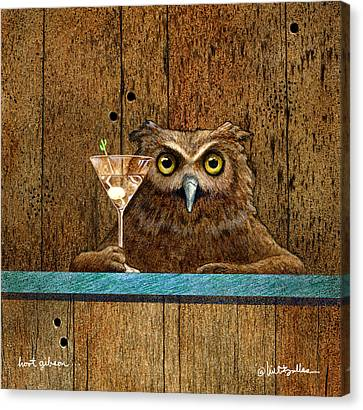 Canvas Print featuring the painting Hoot Gibson... by Will Bullas