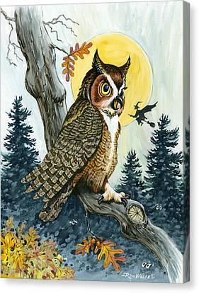 Hooty Hoot Canvas Print by Richard De Wolfe