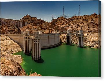 Hoover Dam Canvas Print by Ed Clark