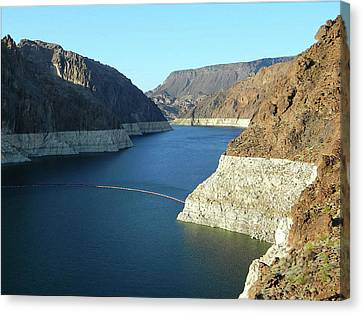 Canvas Print featuring the photograph Hoover Dam In May by Emmy Marie Vickers
