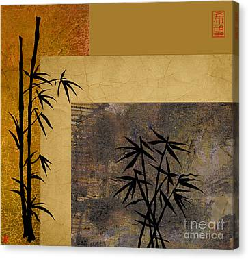 Canvas Print featuring the digital art Hope And Bamboo by Nola Lee Kelsey