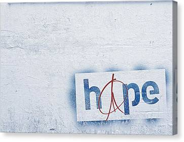 Hope And Peace Canvas Print by Cco