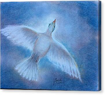 Canvas Print featuring the painting Hope And Peace by Laila Awad Jamaleldin