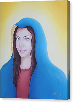 Smiling Jesus Canvas Print - Hope by Beata Engl