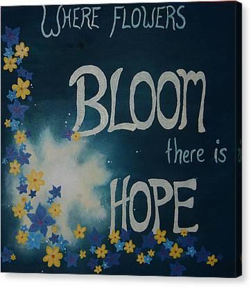 Hope Blossoms Canvas Print by Amanda Clark