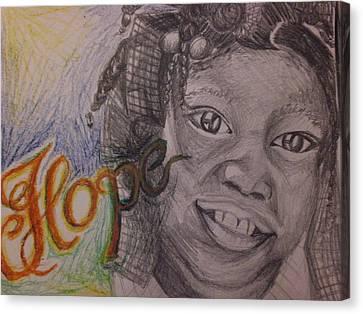 Haiti Canvas Print - Hope For Haiti by Lisa Leeman